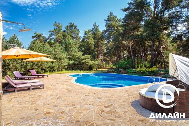 Загородное VIP поместье в лесу с бассейном и выходом на Днепр.