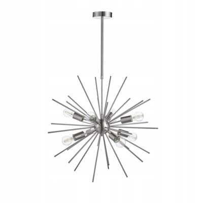 Nowy żyrandol srebrna lampa sputnik
