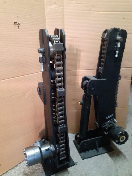Obracak kłody łańcuchowy hydrauliczny trak tasmowy ,docisk
