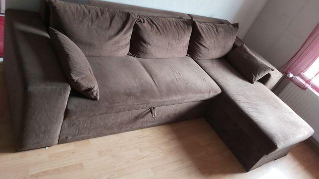 Rogówka.Narożnik. Łóżko. Sofa. Jak nowa stan Idealny