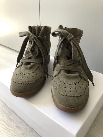 ISABEL MARANT sneakersy Bobby Taupe 39 buty botki khaki