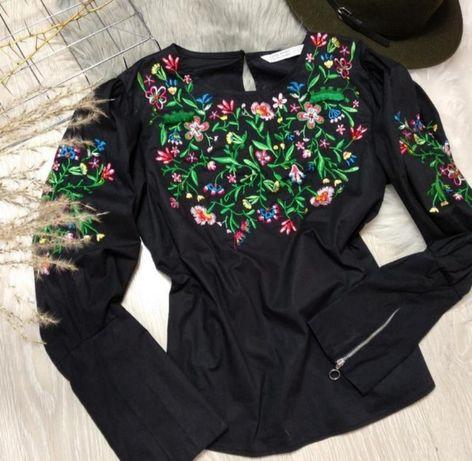Блузка ZARA с вышивкой
