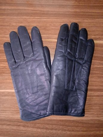 Перчатки кожаные мужские. Новые, на овчине зимние