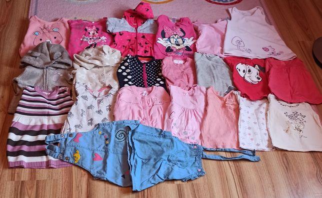 Bluza bluzy bluzka długi rękaw dla dziewczynki 74