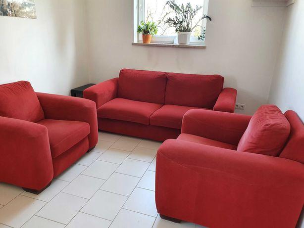 Sofa i fotele DAVOS WEJNERT czerwona