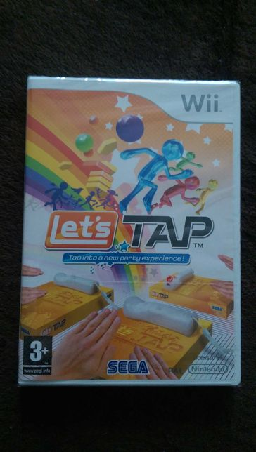 Диск WII с игрой Let's Tap