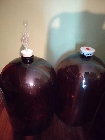 Balon na wino, keg + korek i rurka.