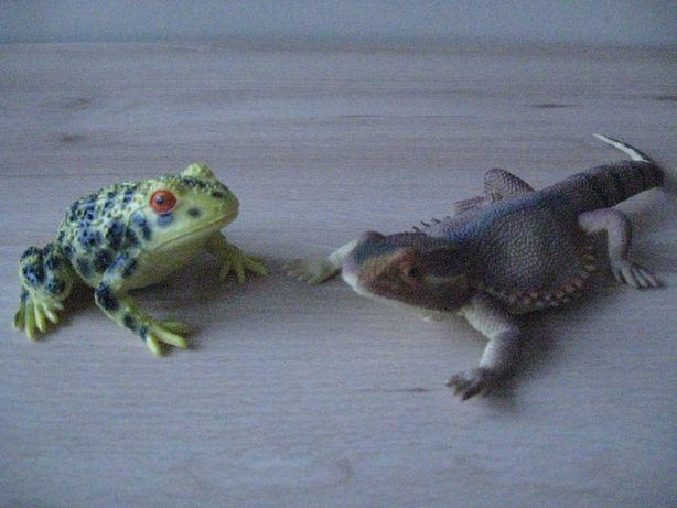 Figurka żaby i jaszczurki