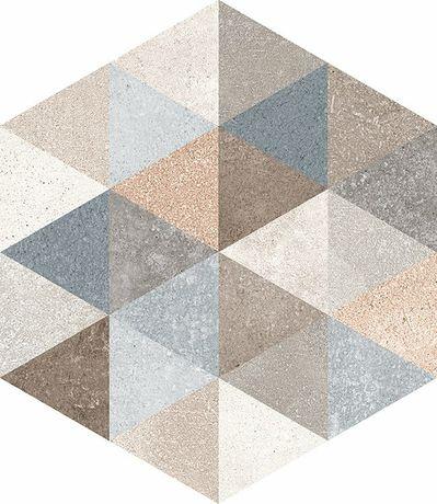 Fingal Hexagono Gris 23x26,6