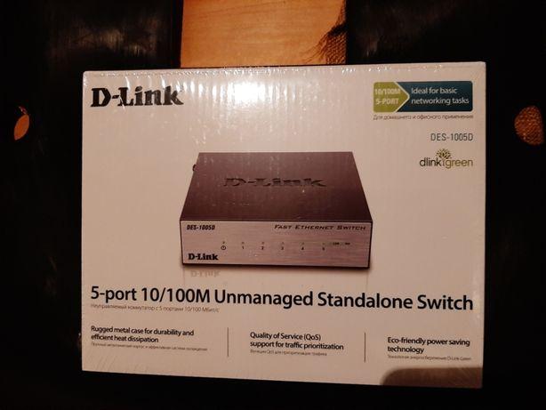 Коммутатор (switch) D-Link DES-1005D