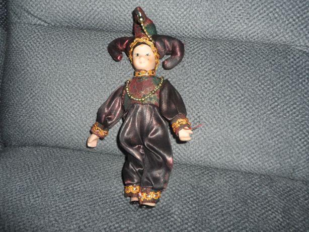 lalka wenecka pierrot ceramiczna porcelanowa