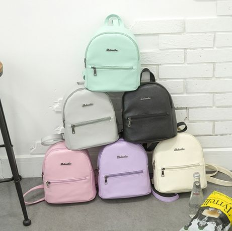 Детский яркий рюкзак мин рюкзачок мятный розовый сиреневый белый новый