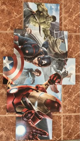 Conjunto quadros MARVEL Avengers
