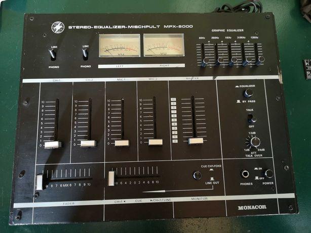 Mikser mixer Monacor MPX-8000 Vintage VU nie Unitra Fonica Luxomat