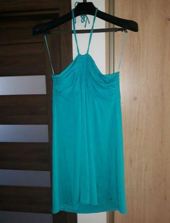 Morska, niebieska sukienka XL-XXL