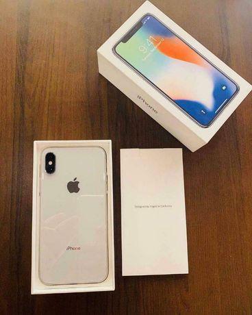 Ideał IPhone X srebrny - Silver Pro 64gb fabryczny komplet