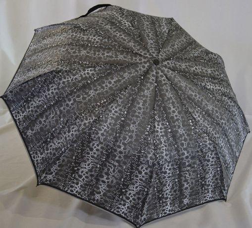 Женский зонт полуавтомат 9 карбоновых спиц антиветер зонтик