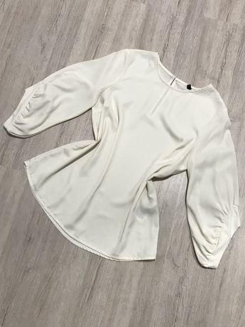 Ecru bluzka kremowa XS 34 Vero moda elegancka rękaw 3/4