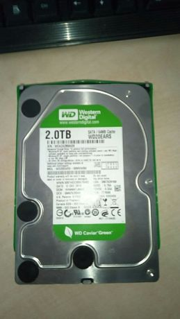 Жесткий диск Western Digital Green 2TB WD20EARS 3500 руб