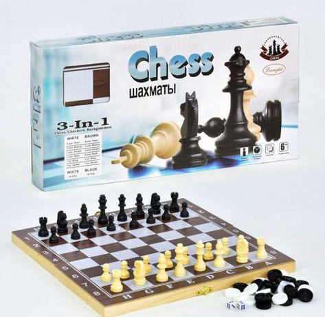 Шахматы, шашки, нарды, F 22016, 3в1, игра, настольная