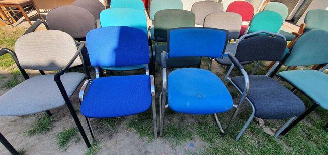 Krzesło krzesła biuro dom działka tapicerowane metalowe nogi
