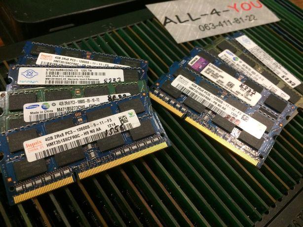 DDR3 4GB Hynix, Kingston, Samsung SO-DIMM 1600;1333;1066 MHz Intel/Amd