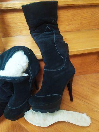 ЗНИЖКА! Зимові чоботи, зимние сапоги, женские сапоги, 37р, 24,5 см