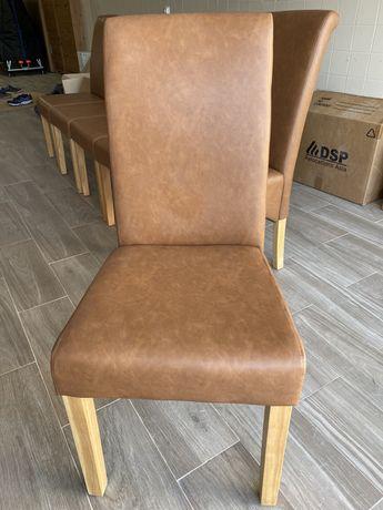 Pack de 6 Cadeiras de Sala ISABEL Castanho PU
