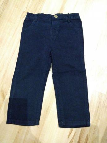Spodnie sztruksowe rozmiar 86