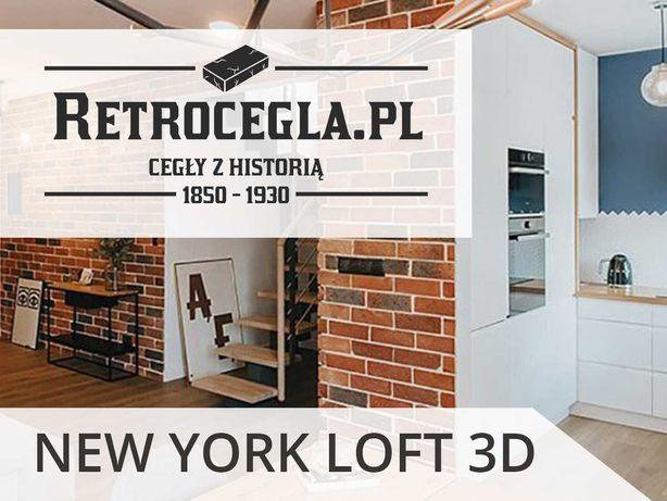 Płytki z cegły, stara cegła rozbiórkowa, cegła na ścianę NEW YORK LOFT