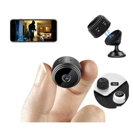Micro câmara Vídeovigilância FullHD sem fio WIFI visão noturna