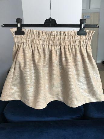 spódnica + bluzka komplet srebrno beżowy r XS
