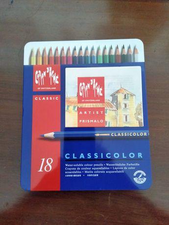 Caixa com 18 lápis de cor - Marca Caran D'Ache