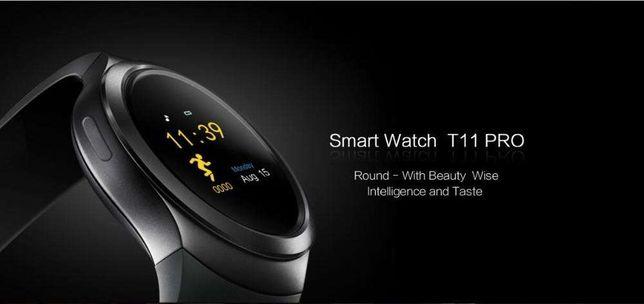 Smartwatch T11 Visor redondo entrada cartão sim e cartão de memoria SD