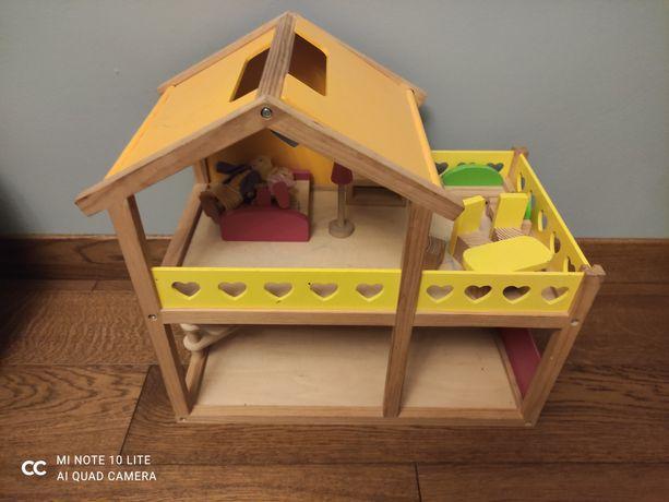 Domek drewniany z akcesoriami