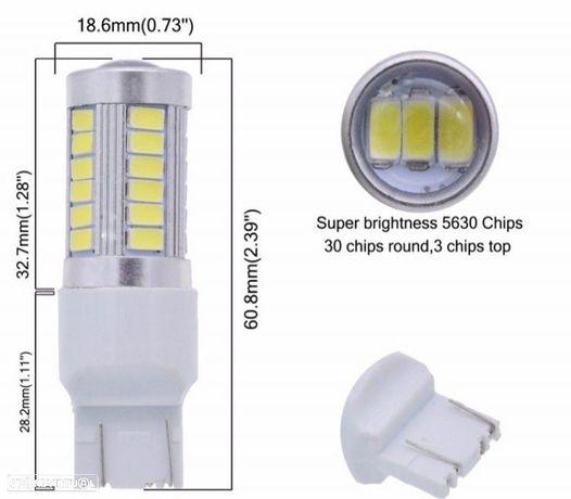 LÂMPADA 33 LEDS T20 BRANCA CANBUS