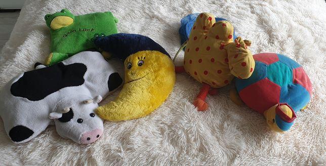 Ozdobne poduszki do pokoju dziecięcego plus pojemnik na zabawki