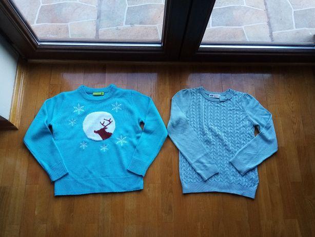 Dziewczęce sweterki,  H&M, rozm 122-128