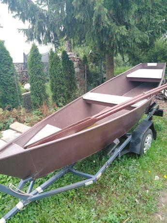 Łódka aluminiowa wraz z przyczepką