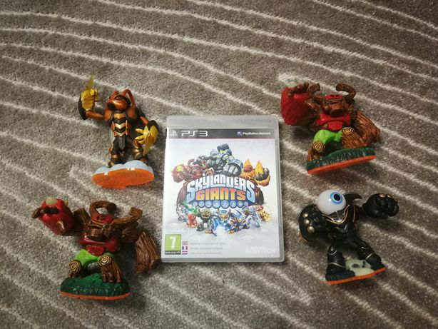 Gra PS3 Skylanders Giants + 4 figurki