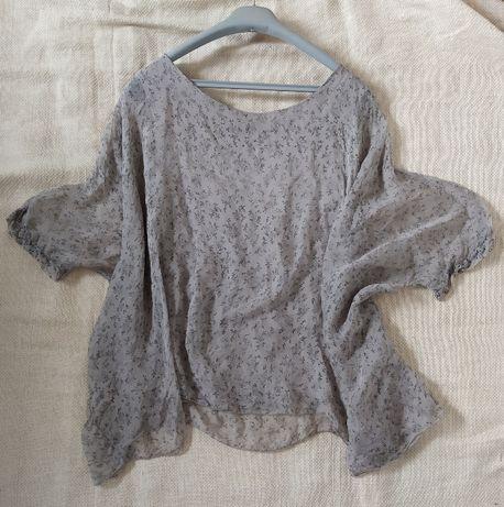 блуза из натурального шелка pura seta 100% М шелк топ туника Италия