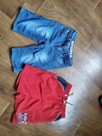 Джинсовые и пляжные шорты 8-10 лет