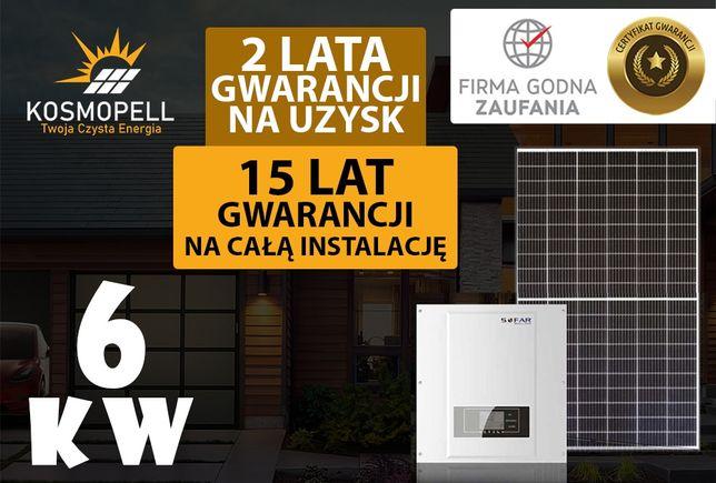 Instalacja fotowoltaiczna 6 kW - 15 Lat Gwarancji - Kosmopell.pl