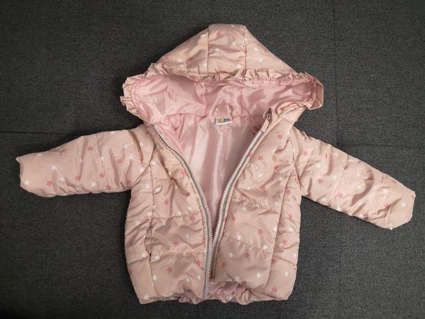 Różowa kurtka w gwiazdki dla dziewczynki rozmiar 74