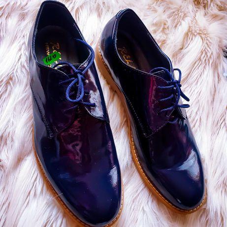 Новые ботинки. 41й размер. Кожа, лаковые