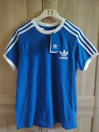 Koszulka t-shirt Adidas 3 paski stripes S/M Nowa Oryginalna