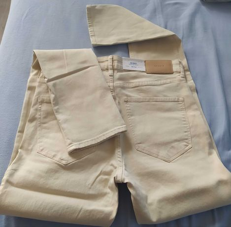 NOWE H&M spodnie damskie jeansy Denim Skinny 30/34 bawełna L M LONG 40