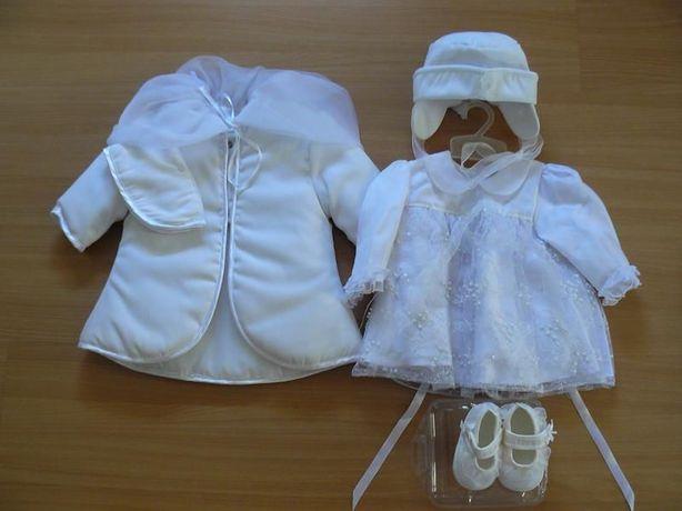 Ubranko dla dziewczynki do chrztu - r.62