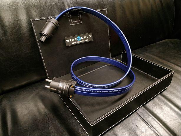 WireWorld Aurora silve kabel zasilający sklep Wrocław Trans Audio HiFi