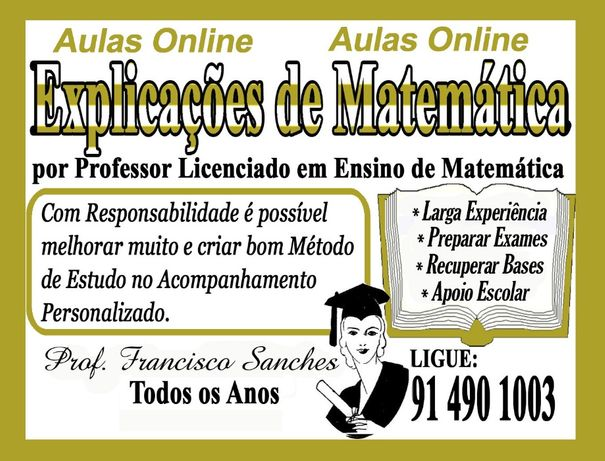Aulas/Explicações de Matematica Online